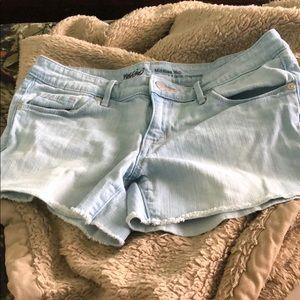 Mossimo denim mid rise shorts